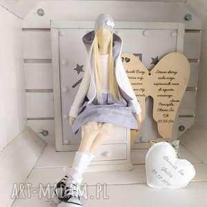 anioł tilda lalka pamiątka chrztu świętego, anioł, tilda, pamiątka