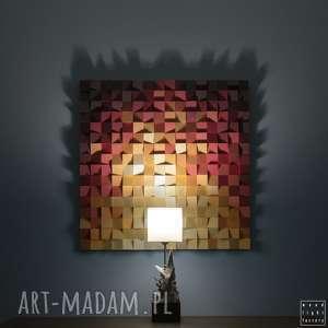 wood light factory obraz drewniany 3d mozaika drewniana ogień_2