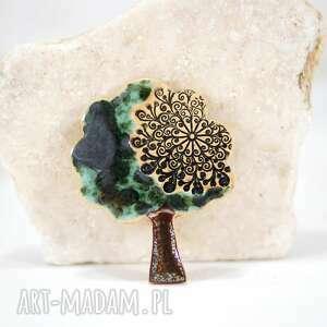 Ceramiczny magnes na lodówkę - drzewo magnesy fingersart lodówkę