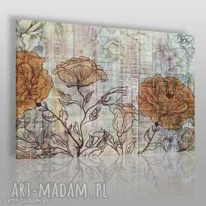 obraz na płótnie - kwiaty retro 120x80 cm 44801 , kwiaty, retro, vintage, shabby