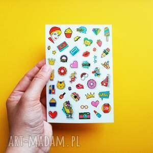 scrapbooking notesy naklejki pop art, popart, kolorowe, naklejka, pop, kolorowe