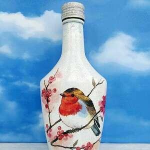 ptaki zimą dekoracja z kolekcji vögel im winter - brązowe