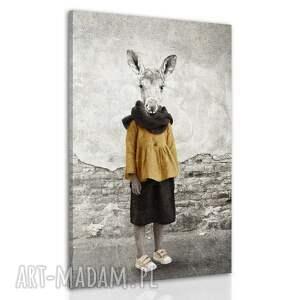 obraz na płótnie tymczasem nad biebrzą - panna klępa 80x120cm, zwierzęta