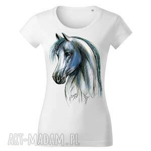 koszulki tatra art by sasadesign magdalena gądek - biała koszulka koń blue