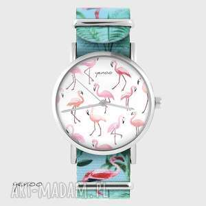Prezent Zegarek - Flamingi - nato, bransoletka, flaming