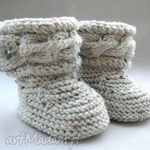 botki, buciki, kozaczki, ciepłe, wełna, niemowlę, prezent