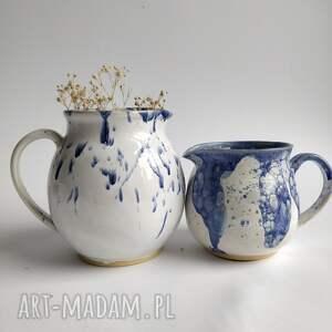 dwa dzbanki ceramiczne, ceramika, wazon dzbanek, dzbanek ceramiczny, prezent