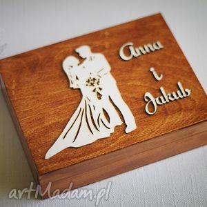 pudełko na obrączki - para młoda, ślub, obrączki, pudełkonabrączki, drewno