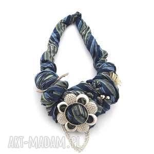 Blue jeans naszyjnik handmade naszyjniki oheve handmadedesign