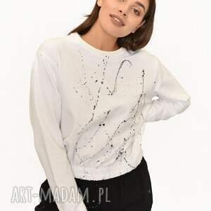 bluzy bluza happy ecri malowana, bluzka, sukienka, koszulka, malowana