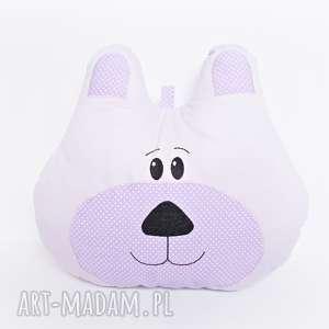 poduszka dekoracyjna miś fioletowy - dla-niemowlaka, prezent-na-urodziny