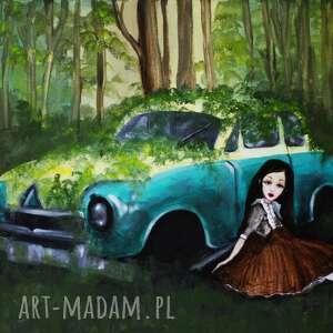 magiczny obraz do pokoju dziecięcego samotność w lesie z serii dolls