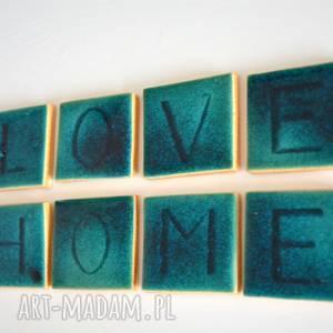 ceramika ceramiczne kafelki z literkami, literka, literki, home, love