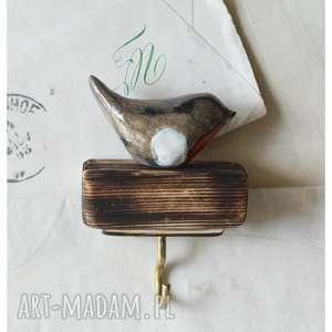 handmade wieszaki wieszaczek z gilem