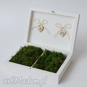 Pudełko na obrączki ślubne Rustykalne, ślub, pudelko-na-obrączki, wesele