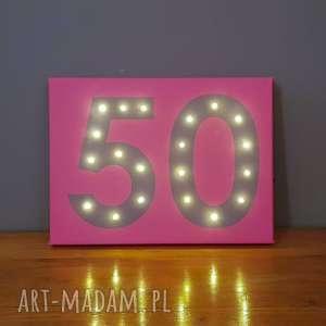 świecące obrazy led 18 20 30 40 50 urodziny prezent dekoracja przyjęcia