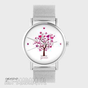 Prezent Zegarek, bransoletka - Drzewko miłość metalowy, zegarek,