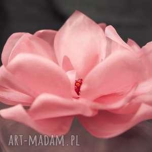 różowy kwiat - jedwab, ozdoba, kwiat, preciosa