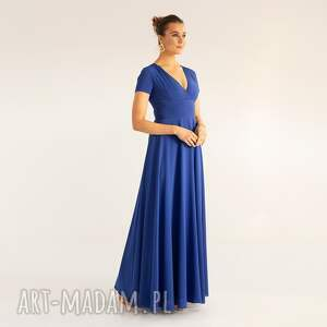 sukienki sukienka 9/ss/2021, weselna, chabrowa, elegancka, gładka, stylowa