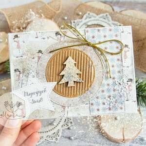 hand made na święta upominek piękna kartka bożego narodzenia