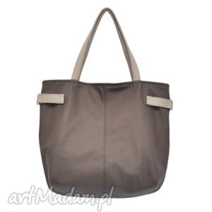 21-0015 brązowa torba damska worek xxl na zakupy peacock, markowe, modne, torebki