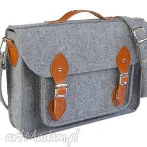 ręcznie wykonane filcowa torba na laptop 15 - personalizowana grawerowana dedykacja