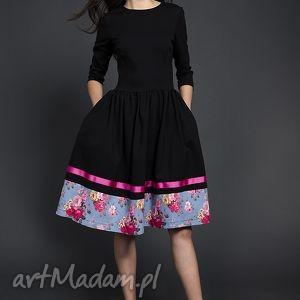 ręcznie wykonane sukienki rozkloszowana sukienka midi