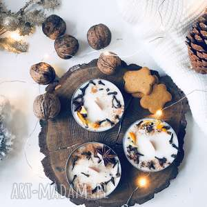 zestaw świec sojowych w świątecznych zapachach, świece sojowe, swieca swiateczna