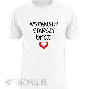 ręcznie wykonane koszulki koszulka z nadrukiem dla starszego lub młodszego brata