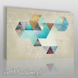 vaku dsgn obraz na płótnie - heksagonalny geometria 120x80 cm 50001 , geometryczny