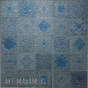 kafle szaroniebieskie arabeski, 25 sztuk, kafle, dekory, ornament, marokańskie