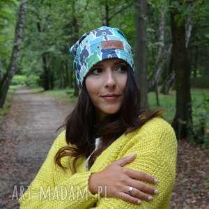 czapka w misie unisex kolorowa, czapka, misie, jesień, ciepła