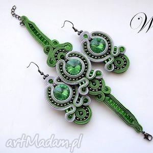 handmade komplety komplet sutasz zielono siwy
