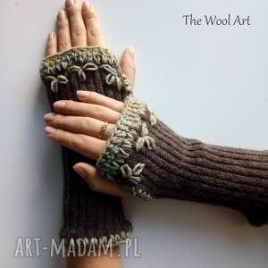 rękawiczki mitenki, rękawiczki, wełniane, na-ręce, kobiece, jesienne