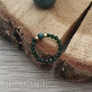 pierścionek ze szmaragdem nilu i azurytem - rainforest ii, pierscionek
