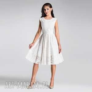 sukienka scarlett midi haft richelieu biel, sukienka, midi, biała, lato