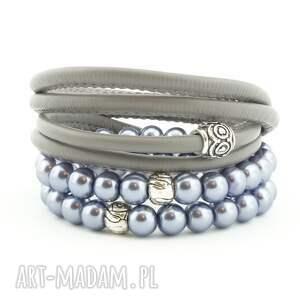 ręcznie zrobione gray pearl