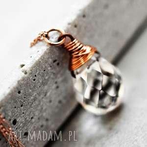 ręcznie zrobione naszyjniki 925 pozłacany naszyjnik biały kryształ