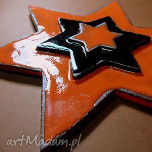 Zawieszka ścienna - postarzana gwiazda ceramika pracownia ako