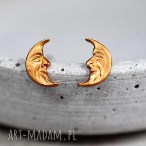 oryginalne kolczyki vintage z lat 70 księżyc madamlili, prezent