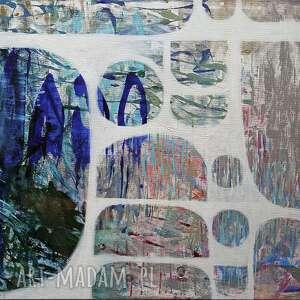 obraz akryl na płótnie - abstrakcja, ręcznie, malowany płótno
