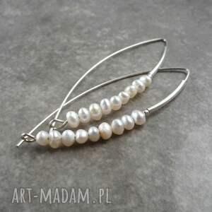wyjątkowy prezent, perłowe kolczyki, srebrne kolczyki