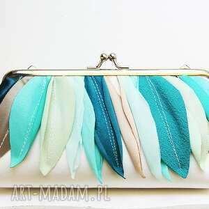 aqua, clutch, handtashe, bridal, handbag, kopertówka, ślubna