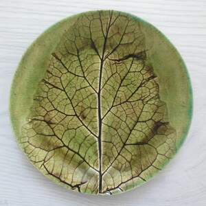 ręczne wykonanie ceramika roślinny mały talerzyk