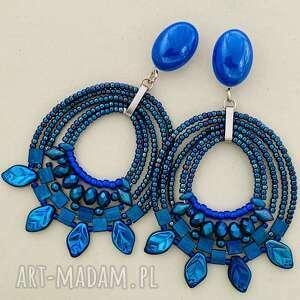 Kolczyki irma bead story electric blue, na sztyftach, kolorowe