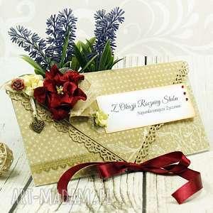 kartka na rocznicę ślubu- kwiatowy zakątek rocznica, ślubna kopertówka
