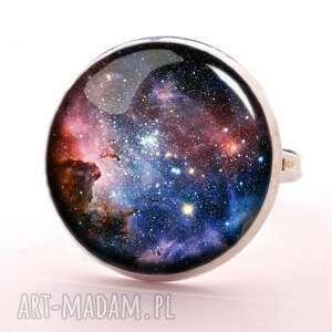 egginegg carina nebula - pierścionek regulowany, biżuteria, szklana