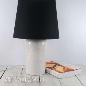 lampa ceramiczna raku, nocna, stołowa, technika prezent