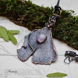 miłorząb - naszyjnik z prawdziwym liściem miłorzębu