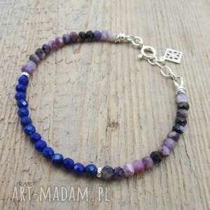 Lapis lazuli z czaroitem - bransoletka, lapis, lazuli, czaroit